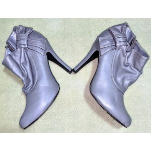 Charlotte Russe Gray Ankle Boots